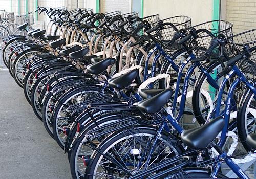 レンタルサイクルの駐輪場